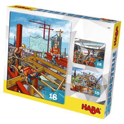 3er Puzzle-Set Baustelle, erschienen bei HABA