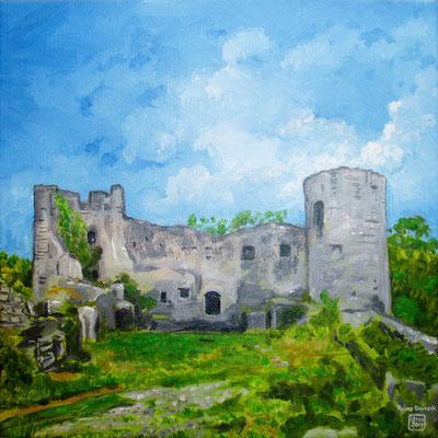 `Ruine Dorneck´- Acryl auf Leinwand, Format: 30x30cm, 2014, verkauft