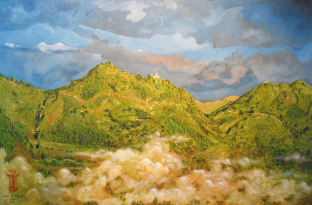 `Berge bei Bogotá´ - Acryl auf Leinwand, Format: B120xH80cm, 2014, verkauft