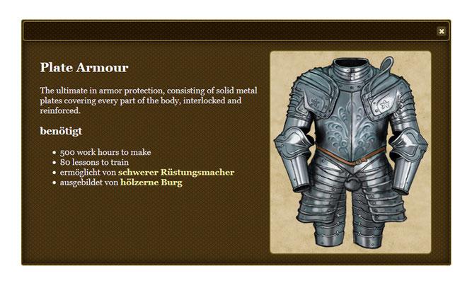 Rüstung für Browsergame`Might and Fealty´, publiziert von Tom Vogt