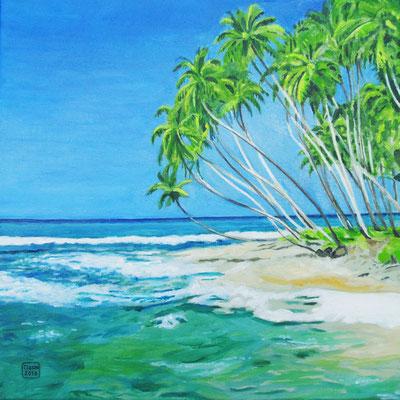 ` Karibikstrand ´-Acryl auf Leinwand, 30x30cm, 2010