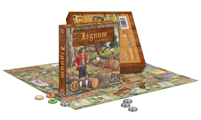 Brettspiel Lignum, Mücke Spiele Verlag, 2015