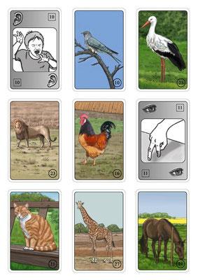 `Kikerikimäh´, Spielkarten, erschienen bei Adlung Spiele