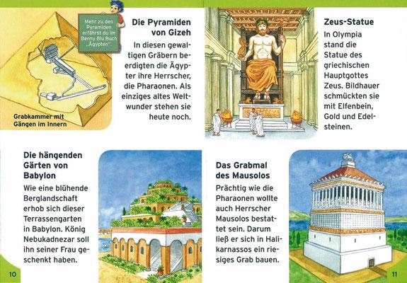 Illustrationen für`Benny Blu Weltwunder-Einzigartige Bauwerke´, erschienen im Kinderleicht Wissen Verlag, 1. Auflage 2011