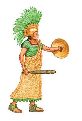 Cuauhtémoc, letzter aztekischer Herrscher von Tenochtitlan