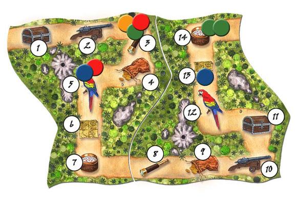 `Cartagena 2´, Spielplan, erschienen bei Rio Grande Games