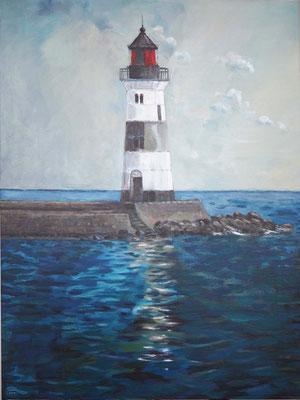 `Leuchtturm Schleimünde´ -Acryl auf Leinwand, Format: B50xH130cm, 2013