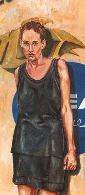 `Nivea´-Acryl auf Leinwand, Format: H141xB60cm, 2002