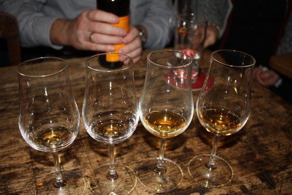 die ersten Rum sind probiert