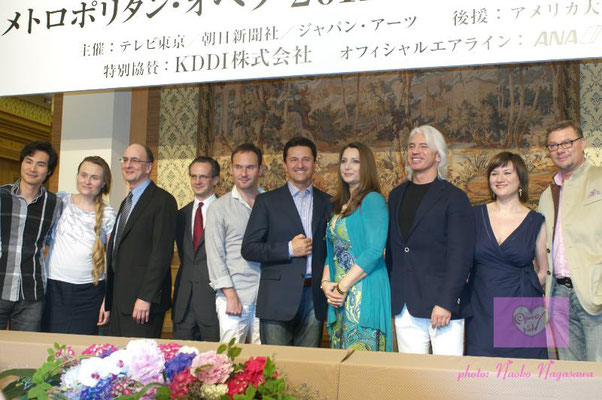 June 6, 2011 (MET Japan Tour _ press conference ) : photo by Japan Arts