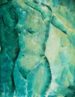 Acryl - Serie : Pärchen - Acryl gerollt auf Leinwand - 80 x 100 cm