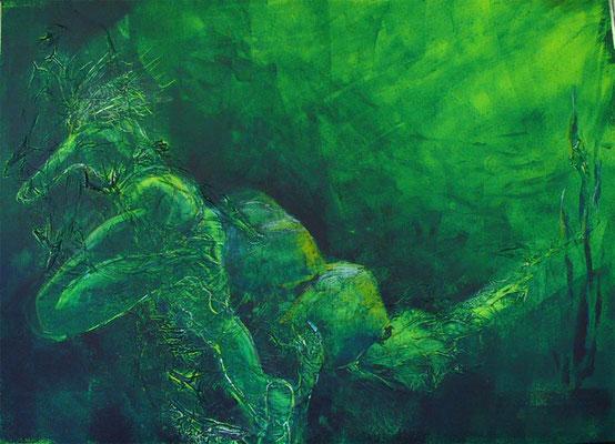 Acryl-Mischtechnik - Serie: Unterwassergeschichten - 50 x 70 cm Karton