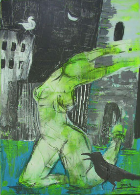 Acryl-Mischtechnik - 50 x 70 cm auf Leinwand
