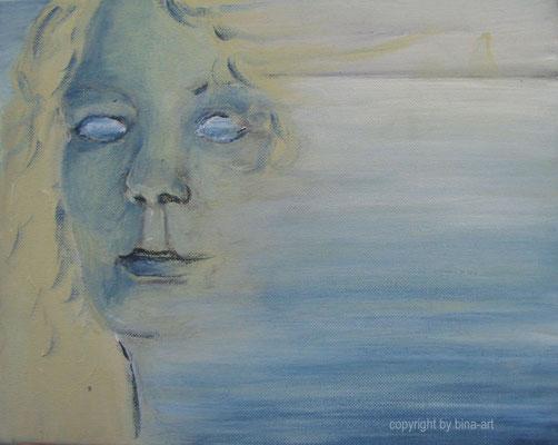 Binas Traumwelt - Acryl auf Leinwand 30 x 24x 2 cm