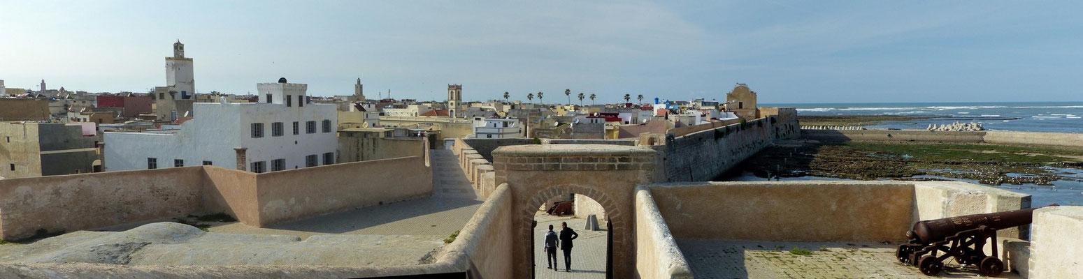 Promenade sur les remparts d'El Jadida