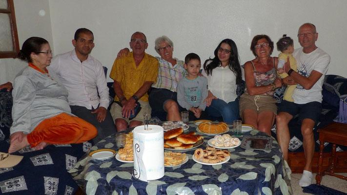Salwa nous a reçus chaleureusement, lundi soir, avec toute sa famille
