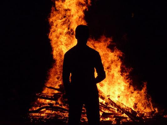 eigene Gedanken am Feuer