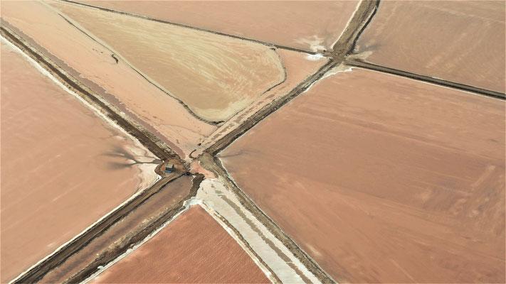 Survol du Namib ; Marais salants ; Namibie