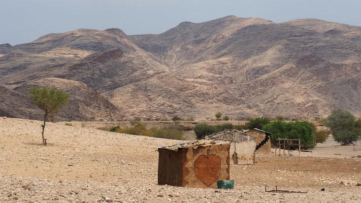 Village hérero à proximité de Purros ; Namibie