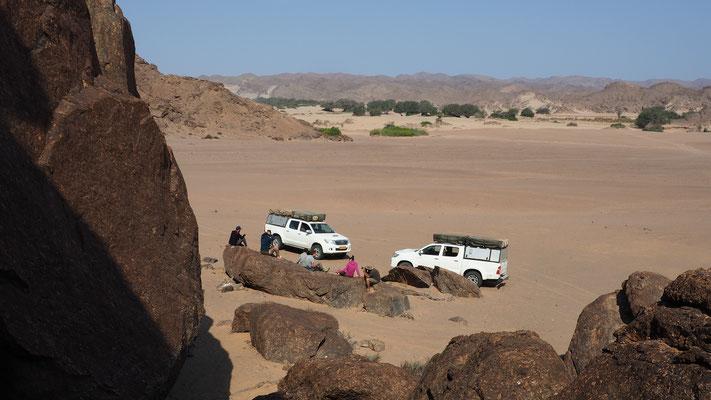 Bivouac d'Amspoort non loin de la Hoanib ; Namibie