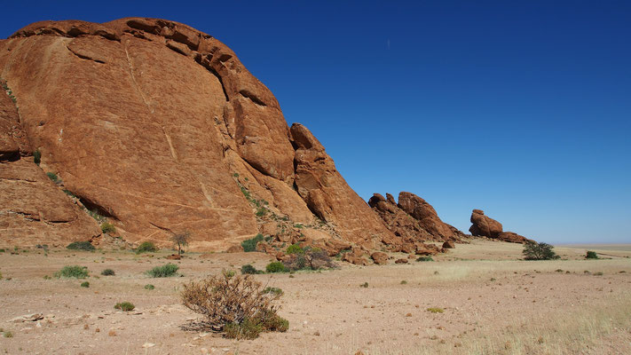 Trek dans le Namib central ; Mirabib ; Namibie