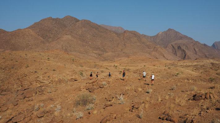 Au bout de la vallée de Marienfluss ; Namibie