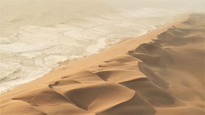 Survol du Namib ; Côte Atlantique ; Namibie