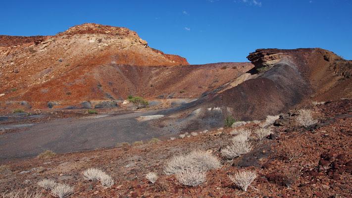 La montagne brûlée ; Damaraland ; Namibie