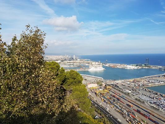 Aussicht vom Montjuíc Teil 3 - der Hafen Barcelonas