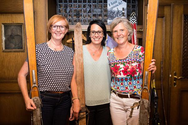 Weltcupfahrerinnen Priska Föhn, Laura Hediger und Regula Herzog