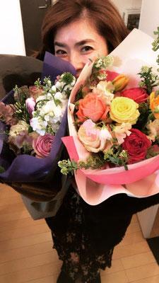 素敵なお花をいただきました!!