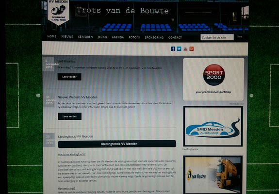 Oude website vv Meeden