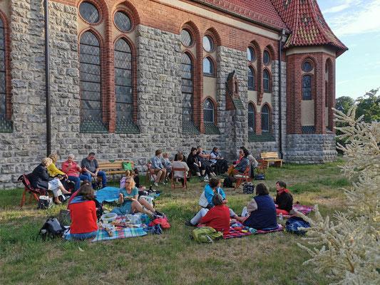 Picknick nach der ersten Chorprobe 2021