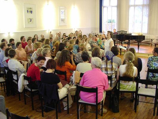 Probe mit Chor aus Ungarn 06/2005