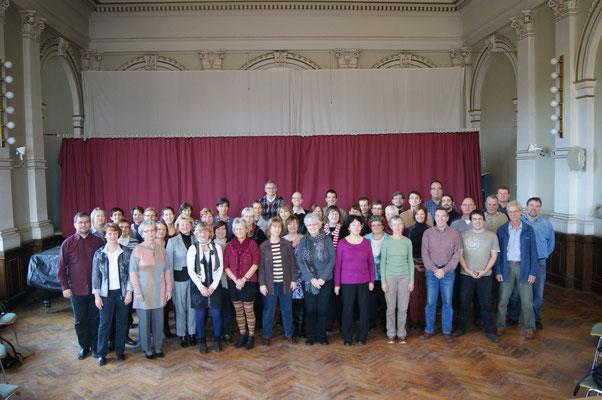 Gruppenbild im Einsteingymnasium 12/2012