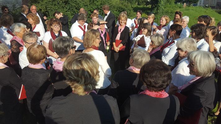 Sommerkonzert Bornim mit St. Klaren Chor aus Ribnitz 07/2017