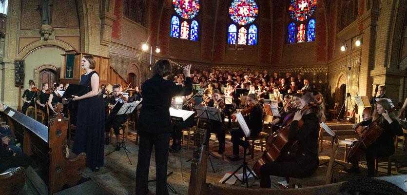 Benefizkonzert Erlöserkirche 09/2019 mit Dörthe Haring und dem Jugendsymphonieorchester