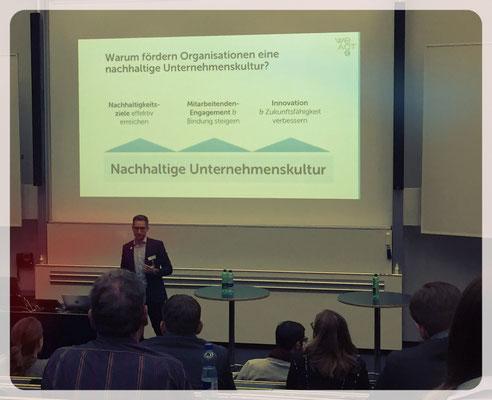 Riccardo Decarolis von WeAct fand, dass Nachhaltigkeit im Unternehmen verankert ist.
