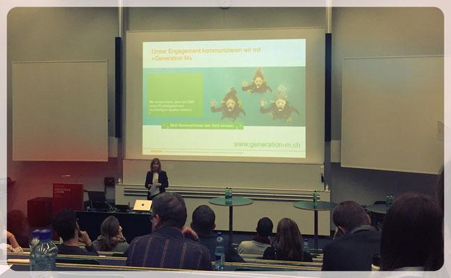 Bei Rahel Kissel von der Migros Luzern ging es um interne Nachhaltigkeitskampagnen.