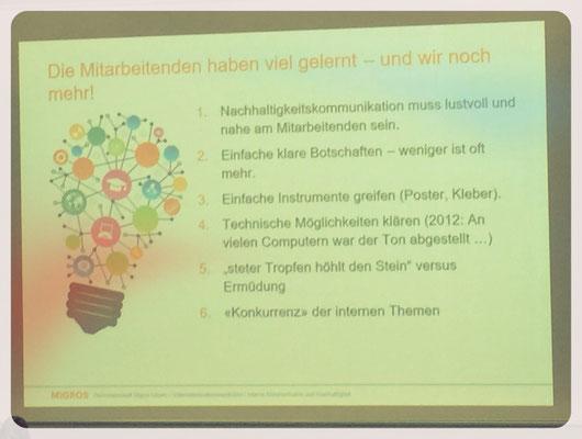 Die Migros Luzern hat spannende Erfahrungen mit der internen Kampagne gesammelt.