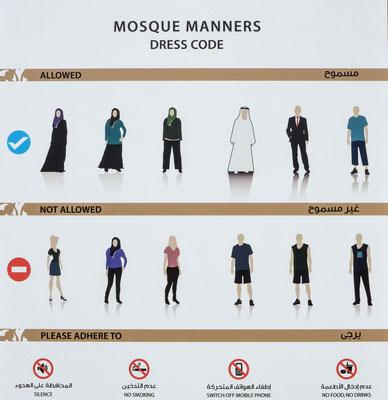 Sheikh-Zayed-Moschee - Dresscode