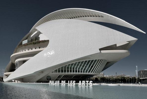 Palau de les Arts Reina Sofía - Oper von Valencia by Santiago Calatrava