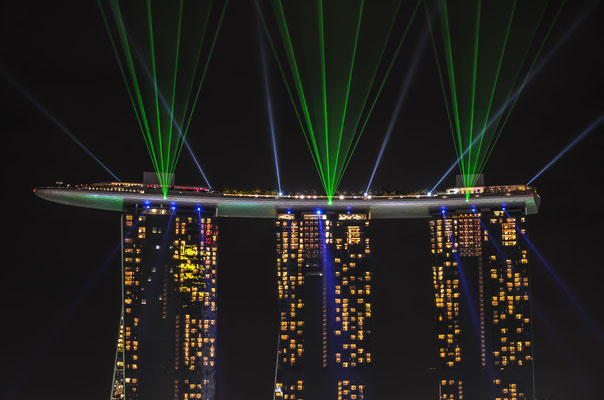The Marina Bay Sands Hotel - Lasershow