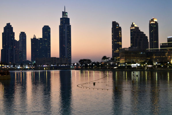 abends am Burj Khalifa