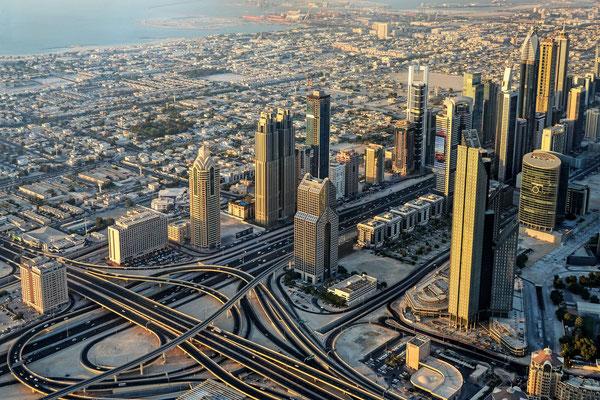 Blick vom Burj Khalifa aus 442m Höhe