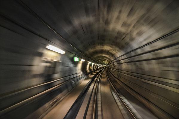 Metro - während der Fahrt