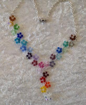 Glasschliffblümchen V Regenbogen 45€