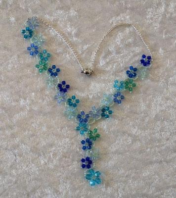 Glasschliffblümchen V türkis 45€