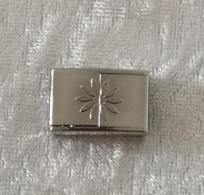 Magnetverschluss silber klein