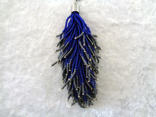 Perlenfeder dunkelblau verkauft